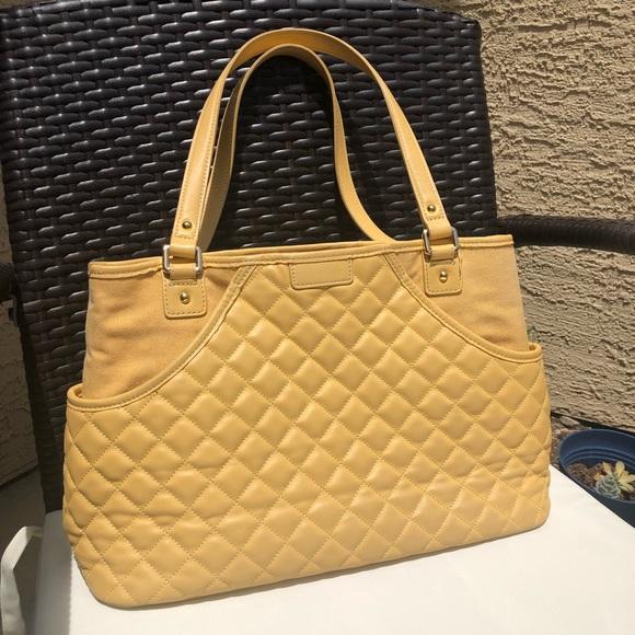 J. McLaughlin Handbags - J. McLaughlin yellow quilted shoulder bag.